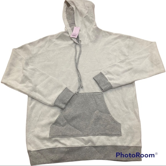 Wild Fable Long Sleeve Pullover Hoodie Heather Gray L